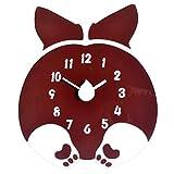 JYY Keji Culo Forma Reloj De Pared,Reloj De Acrílico Ultra Silencioso para Los Niños Dormitorio Habitación,Encantadora Decoración del Hogar,33x39cm