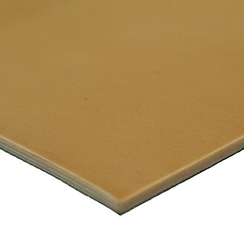 Gum Pure Rubber (Pure Gum Rubber - Commerical Grade - 40A - Rubber Sheet - Tan Gum in Color - 1/16