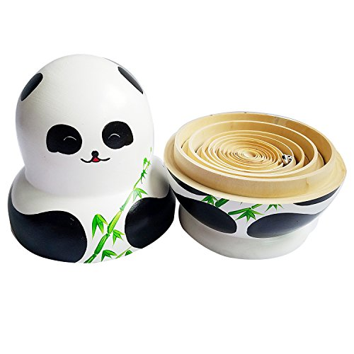 Winterworm Set of 15 Panda with Bamboo Nesting Dolls Matryoshka Russian Doll Popular Handmade Kids Girl Gifts Christmas Toy by Winterworm (Image #5)