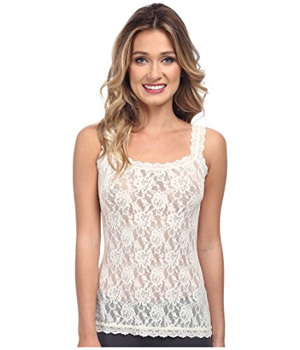 (Hanky Panky Women's Signature Lace Unlined Cami Ivory Tank Top XL )