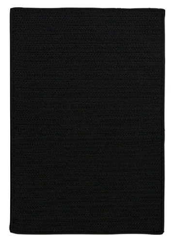 Simply Home Solid Black 3ft x 5ft