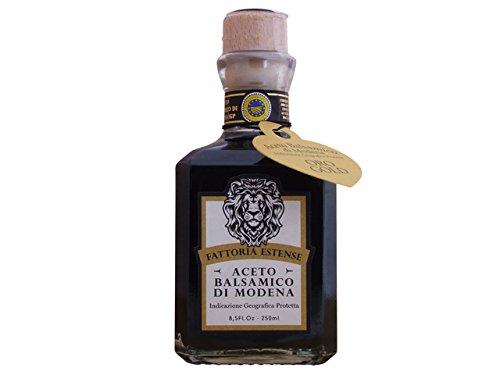 - Fattoria Estense Balsamic Vinegar Gold Label, 8.5 Fluid Ounce Square Bottle