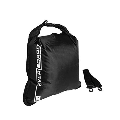 Overboard Waterproof Dry Flat Bag, Black, 5-Liter
