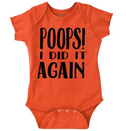 Brisco Brands Poop I Did It Again Pop Culture Music Gift Romper Bodysuit Orange