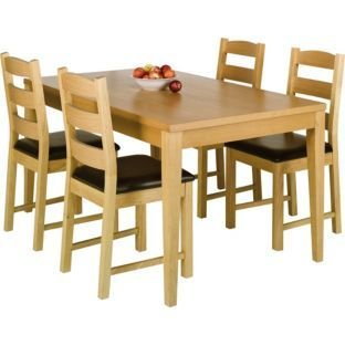 Ex Argos Winslow Real Oak Veneer Wood Dining Table 150cm 5ft Amazoncouk Kitchen Home