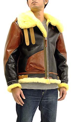 Buzz rickson's BR80489 Men's Sheepskin B-3 Bomber Jacket Reproduction Rough Wear