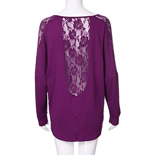 Violet Dcontract Courtes DAYLIN Top Chemisier Col Femme V Solid Manches FzFBawAqZ