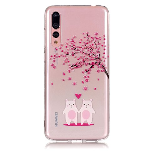 Cerise Huawei Fleur Pro Huawei Fleur Cerise Housse Modle Conception Fleurs Arrire Caoutchouc pour Pro Clair P20 Yobby avec Chocs Pare Etui Svelte Transparent Protecteur Doux Coque Couples P20 TPU Flexible Rouge txYqFfwXp