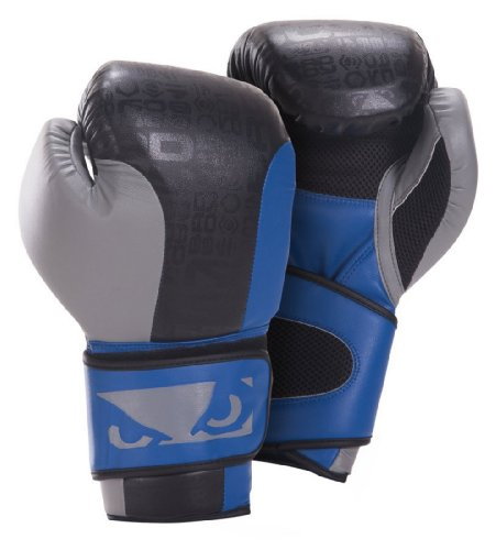 Bad Boy Legacy Boxing Gloves - Black/Blue/Grey - 12oz