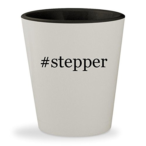 Price comparison product image #stepper - Hashtag White Outer & Black Inner Ceramic 1.5oz Shot Glass