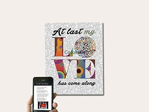 - At Last by Etta James Inspired First Dance QR Code Lyric Gift, First Paper Wedding Anniversary Gift for Him/Her, 2nd Cotton Anniversary Gift For Husband/Wife, 8x10 Print UNFRAMED