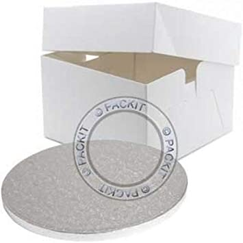 PackitUK, Caja para Tarta de 12 Pulgadas con Base Redonda de 12 Pulgadas.: Amazon.es: Hogar