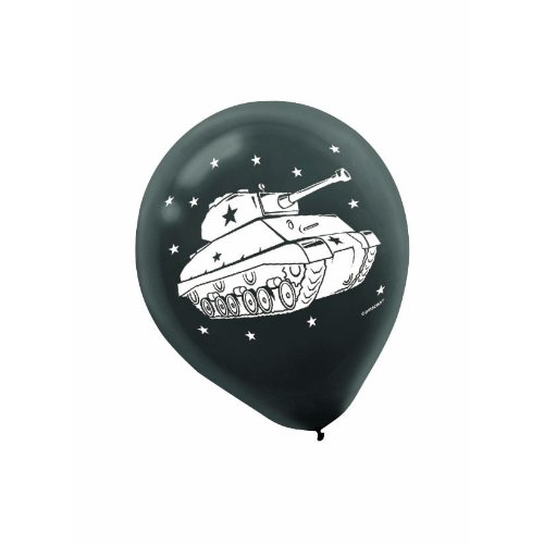 [Adventurous Camouflage Printed Latex Balloons Birthday Party Decorations, 7.8