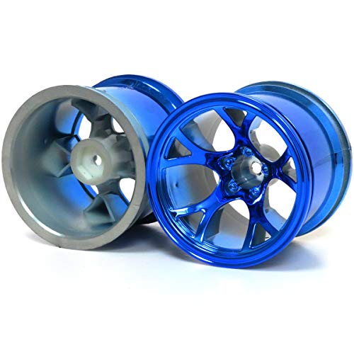 - hobbysoul 2pcs RC 2.2'' Truck Wheels Hex 12mm Blue Color Fit 2.2 Truck Tires & 2.2 Rock Crawler Tires