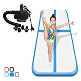 Air Track Tumbling Mat for Gymnastics Inflatable Gymnastics Airtrack Floor Mats for Home use Cheer Training Tumbling Cheerleading Beach Park Water