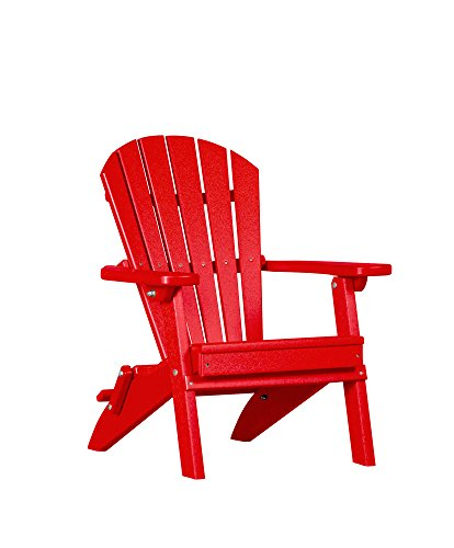 Merriweather Poly Lumber Foldable Child's Adirondack Chair (Bright Red) (Adirondack Chair Poly Lumber)