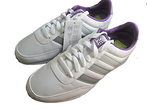 Neo U44766 5 Racer Trainers 5 Deportes Ladies 4 4 Para 5 Uk Stripe Sports 5 Running V Y Libre Sizes Shoes Mujer New uk7 3 Adidas 7 5 5 7 6 White Zapatos Womens silver 3 5 Aire 6 Nylon f4wvP1q