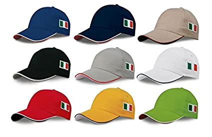 STOCK 10 PEZZI cappello CAPPELLO VISIERA RIGIDA ricamo tricolore BANDIERA  ITALIA ITALIANA  Amazon.it  Casa e cucina 265437b7fe54