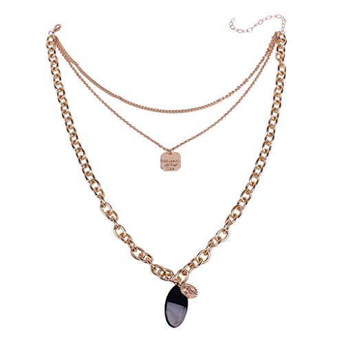 New Trend Necklace,Onefa Fashion Simple European and American Trend Necklace Wild Ladies Fashion Jewelry (Gold)