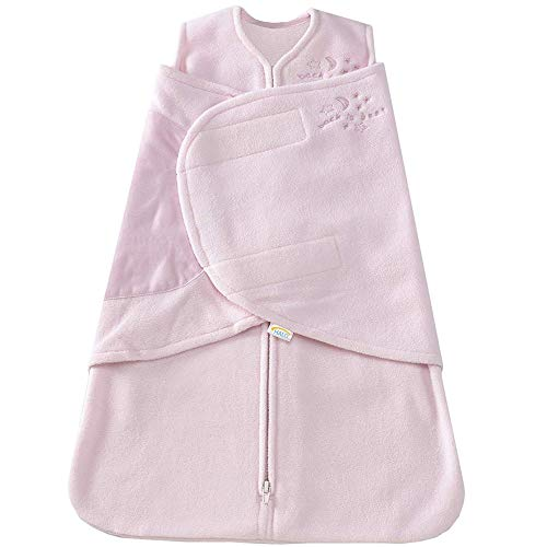 HALO SleepSack Micro-Fleece Swaddle, Soft Pink, Small ()