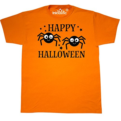 Inktastic - Happy Halloween Funny Spiders T-Shirt XXX-Large Safety (Funny Halloween Safety Slogans)