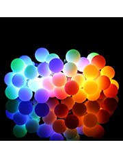 String Lights, 14.8ft 40 LED Ball Lights Waterproof, Globe String Lights Battery Powered 8 Lighting Modes, Starry Fairy Lights Indoor/Outdoor for Bedroom, Garden, Christmas Tree, Wedding, Party(Multi-Color)