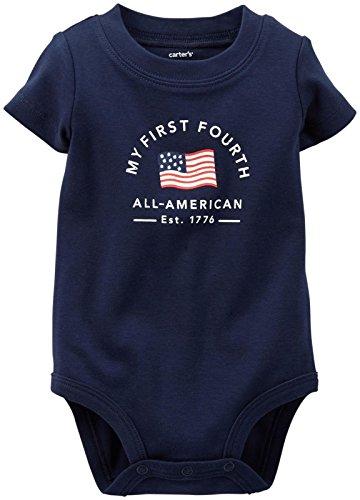 Carter's Holiday Slogan Bodysuit (Baby) - Navy-12 Months