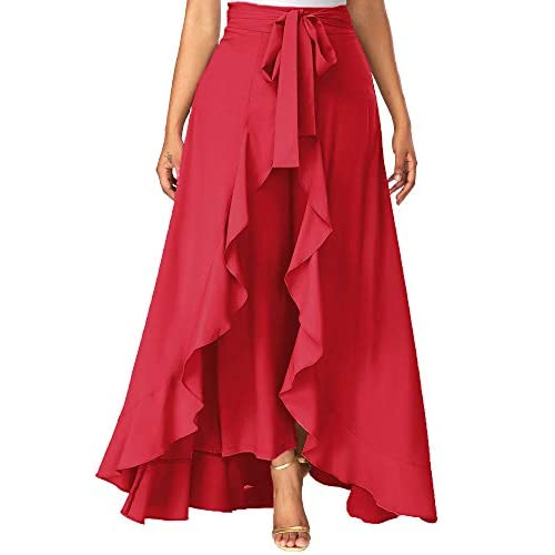 41AhgqZfh8L. SS500  - Addyvero Women's Solid Flared Skirt