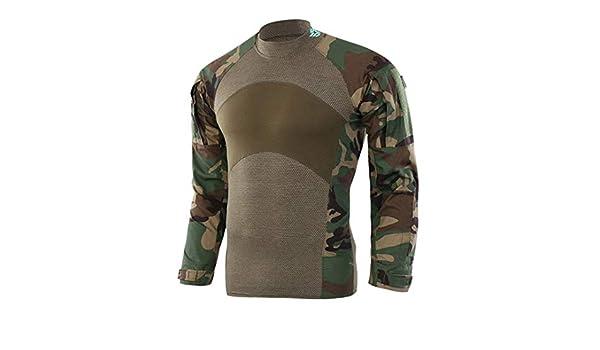 Hombres Camisetas tácticas Combate del ejército Camisa Militar de Asalto de Manga Larga Caza Ropa Jungle Camouflage Asian Size L: Amazon.es: Ropa y accesorios