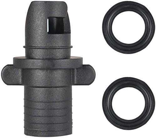 2 Piece Boat Foot Pump Hose Adapter Valve Suit for Inflatable Boat Kayak