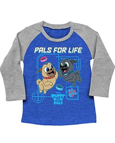 - Puppy Dog Pals Disney Little Boys' Toddler Long Sleeve Raglan Tee (5T)