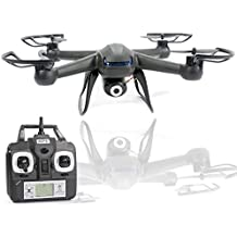 KiiToys Camera Drone with Spy Camera - X007 Quadcopter HD Camera 720p 2MP, 6 Axis Gyroscope, 7.4V Battery, 3D Flip Roll, 4 Ch 2.4 ghz Long Range (2018 Version)