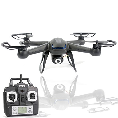 KiiToys Camera Drone with Spy Camera – X007 Quadcopter HD Camera 720p 2MP, 6 Axis Gyroscope, 7.4V Battery, 3D Flip Roll, 4 Ch 2.4 ghz Long Range (2018 Version)