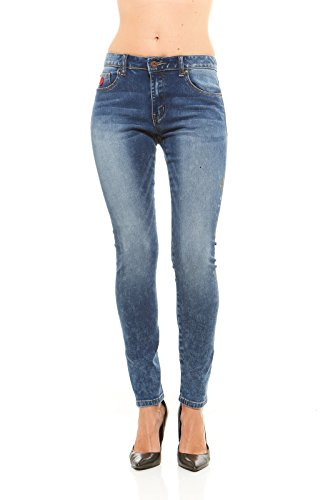 Womens 5 Pocket Hipster Jean - 1