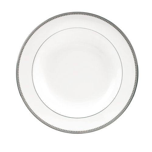 Platinum Rim Soup Plate - Vera Wang by Wedgwood Vera Lace 9-Inch Rim Soup Plate