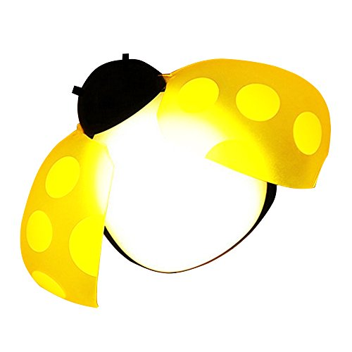 Glo Bug Bead (LED Baby Night Light Ladybug Motion Sensing Lamp for Babyroom Corridor Lights)