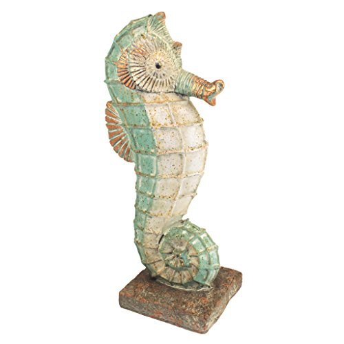Design Toscano FU80072 Sea Biscuit Seahorse Marine Fish Family Statue, Medium, Full -