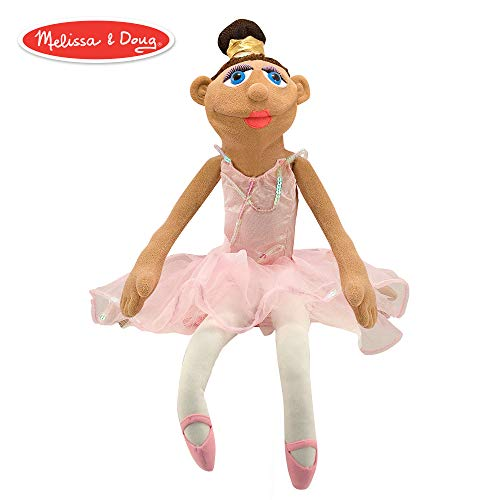 Melissa & Doug Ballerina Puppet with Detachable Wooden Rod (Puppets & Puppet Theaters, Animated Gestures, Inspires Creativity, 15