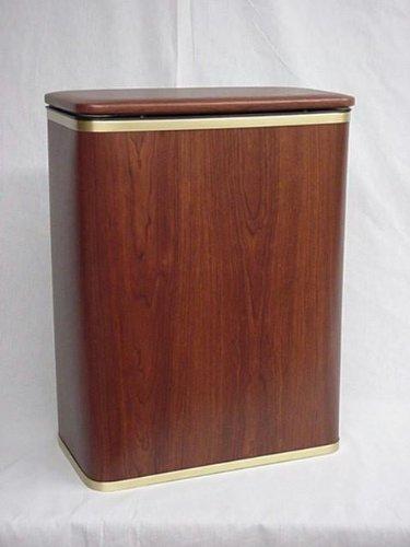Redmon Woodgrain Vinyl Hamper, Oak/Gold