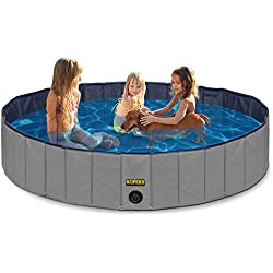 "Outdoor Swimming Pool Bathing Tub - Portable Foldable - Ideal for Pets - XL 63"" x 12"""