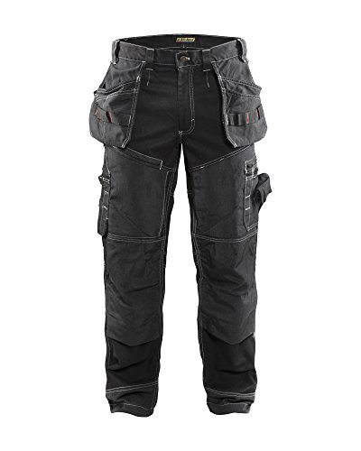 Blaklader X1600 Work Pants Black 36 32 (Heavy Duty Work Trousers With Knee Pads)