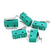 Baomain 5 pack AC 125V 5A Hinge Lever Micro Limit Switch KW4-3Z-3 for Mill CNC