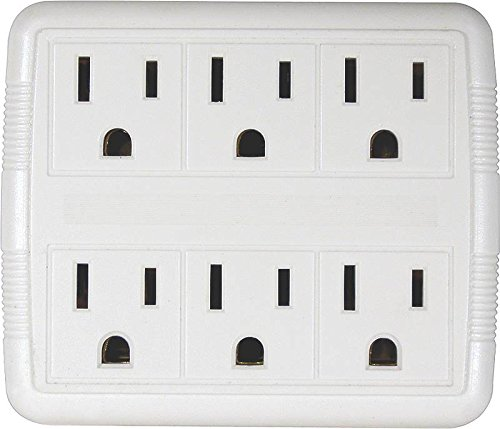 Tap Duplex To 6outlet Gnd Wht ()