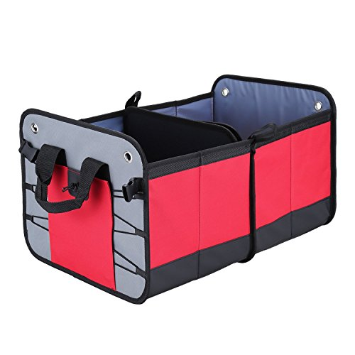 YTech Heavy Duty Auto Trunk Organizer by, Suitable For Car, SUV, Truck, Auto, Minivan, Home - Premium Quality Durable Collapsible Cargo Storage - Non-slip Bottom