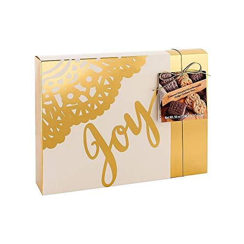 Dipped Chocolate Crackers (Holiday Cookies, Fudge Graham and Caramel Drizzled Shortbread, 50 Oz, Joy)