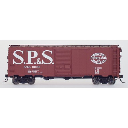 (40' 12-Panel Boxcar - Ready to Run -- Spokane, Portland & Seattle (Boxcar Red, Large, Straight Billboard SP&S))