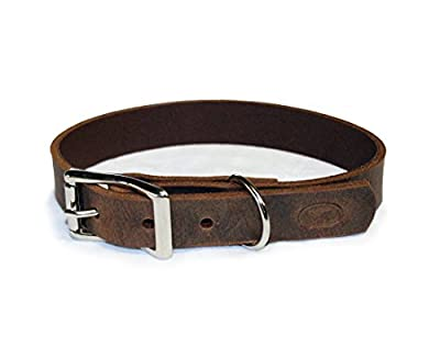 sleepy pup Full Grain Thick Leather Dog Collar - Made in The USA