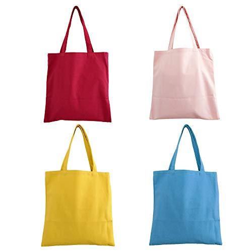 Lavable Celeste Color Ambiente de Rosa Compra Bolso con Reutilizable Mujer Medio Tamaño al de para Azul sólido la Respetuoso Lona Hombro Libre HOMYY el Fpagxq88