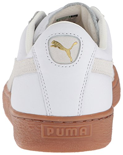Pumas Mens Panier De Luxe Classique De Gomme Blanche Baskets Puma