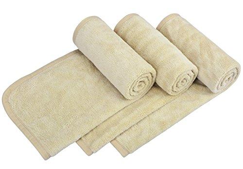 HOPESHINE Hand Towel Set of 3, Hand & Face Towels for Bathroom Premium Long-Staple Microfiber Hotel & Spa Bath Towels Maximum Softness and Absorbency 16 inch X 32 inch Khaki 3-pack by HOPESHINE